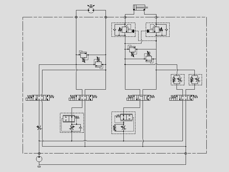 此原理图应用于主功能油缸负载稳定控制。