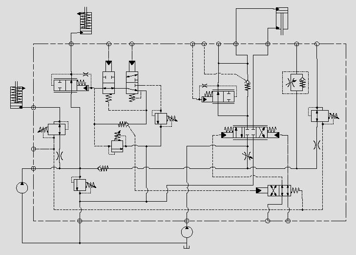 此原理图应用于主功能压力减压控制。