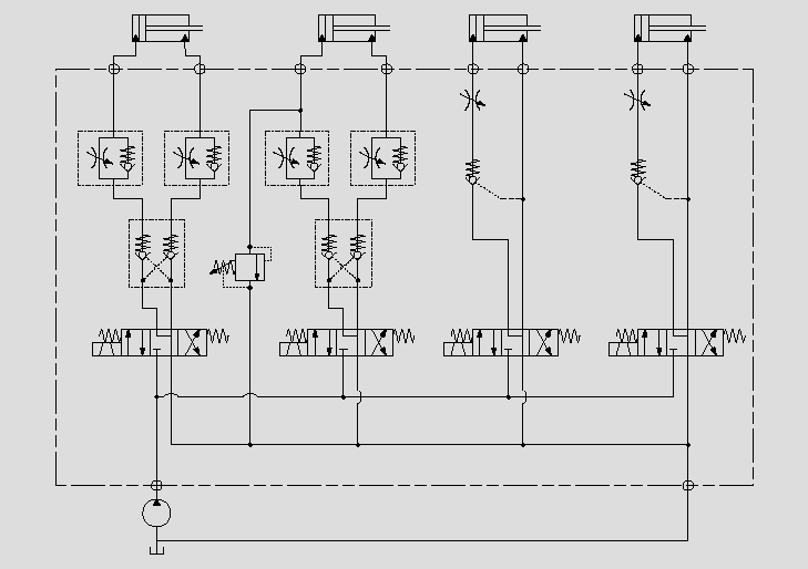 此原理图应用于主功能油缸控制。