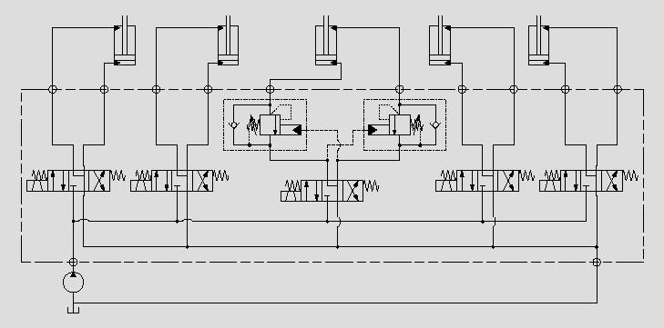 此原理图应用于升降油缸负载稳定控制。