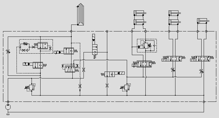 此原理图应用于主功能系统安全压力控制。