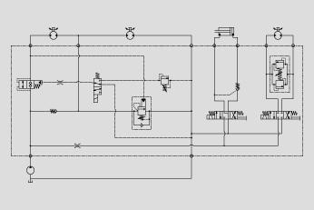 单向阀防止马达气蚀 液压锁和平衡阀用于负载保持 双向溢流阀控制马达图片