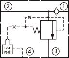原理图为太阳液压的先导式溢流阀,型号为:HVCA8。
