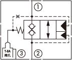 原理图为太阳液压的外泄开启型带内嵌式阻尼的常闭锥阀式逻辑阀,型号为:LODA8, LOFA8, LOHA8, LOJA8, LOKA8。