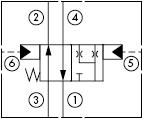 原理图为太阳液压的液控两位四通阀,型号为:DCCF-XWN, DCDF-XWN, DCEF-XWN, DCFF-XWN。